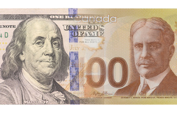 Banknotes of USA and Canada