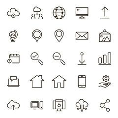 Web flat icon