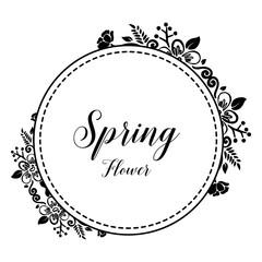 Spring flower frame for greeting card vector illustration