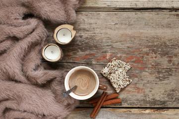 Winter cozy still life