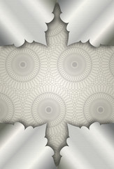abstract background with traditional pattern silver