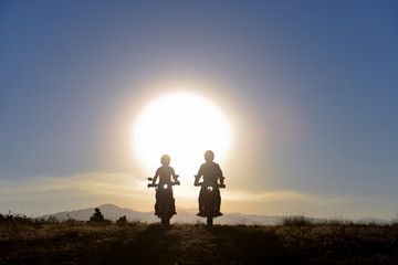 great motorbike trip and wonderful sunrise