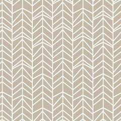 Obraz Monochrome grey colors of chevron herringbone seamless pattern background. - fototapety do salonu
