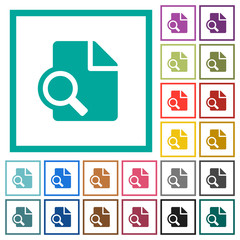 Preview flat color icons with quadrant frames