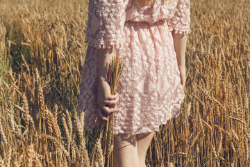 girl, walking, nature, field, wheat, beautiful, woman, summer, young, dress, yellow, sun, beauty, people, freedom, go, white, light, sunset, female, natural, model, healthy, fashion, outdoor