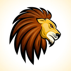 Vector lion head mascot concept