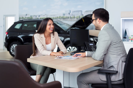 Sales manager at a showroom car is worth to the buyer