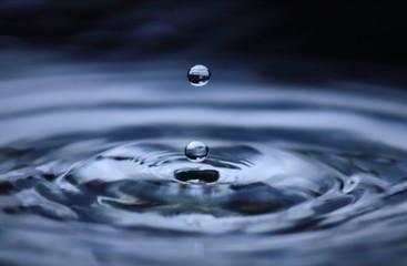 beautiful fresh water drops in fresh nature
