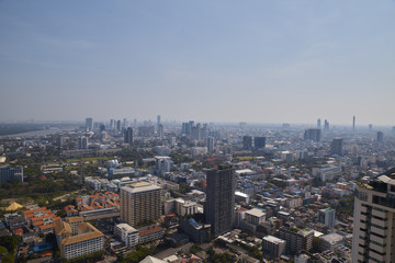 Blurred Cityscapes in Bangkok, Thailand