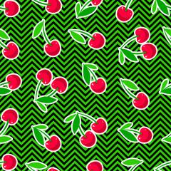 seamless ripe cherries