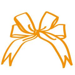 Handgezeichnete Schleife in orange