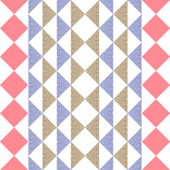 Seamless triangle abstract geometric pattern background.