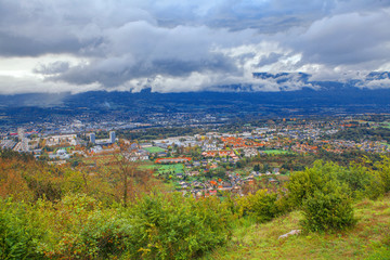 view of Chambery city from France