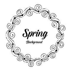 Card for spring season flower frame design vector illustration