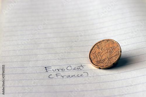 Twenty France Euro Cent On Obverse Line Image Of The Sower A