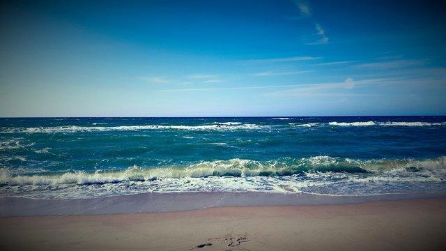 Polska, morze plaża Dąbki