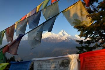 Himalayian scenic of Annapurna area, Nepal