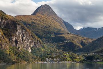 Geiranger from the Geirangerfjord