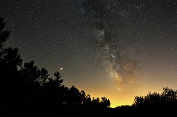 Cielo nocturno en Terra de Montes. Pontevedra