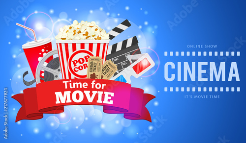 cinema and movie banner stock image and royalty free vector files