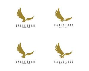 Set of Eagle logo vector
