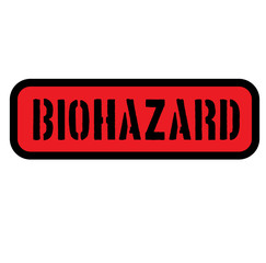 biohazard sign on white