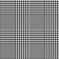vector houndstooth seamless black and white pattern