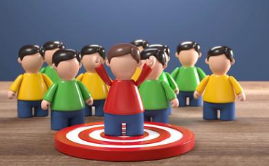 3D Figuren Ziel erreicht