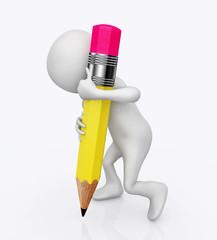 3D Figur mit Bleistift