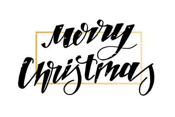 Christmas Vector Phrase Lettering Calligraphy Brush Star