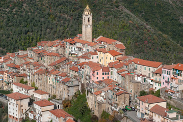 Castelvittorio. Ancient village, Province of Imperia, Italy