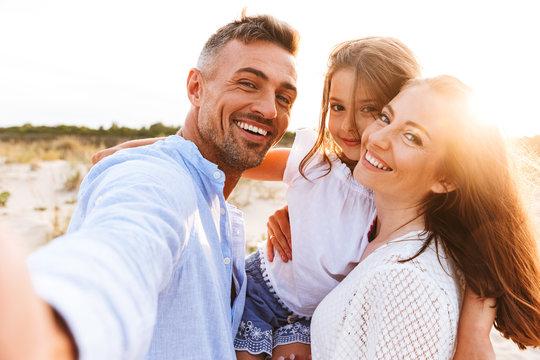 Happy family spending good time