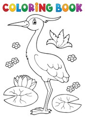 Coloring book bird topic 4