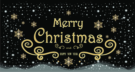 Christmas background with text. Christmas and New Year. Advertising banner.