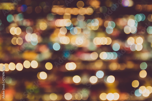blurry background of night market abstract and decoration lighting concept christmas and new year