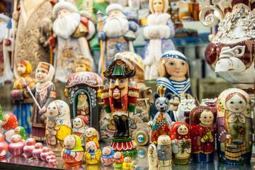 Ethnic painted toys. Nutcracker