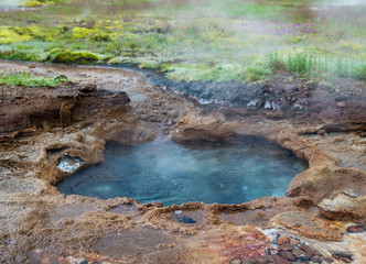 Blue hot thermal pool
