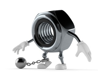 Nut character with prison ball