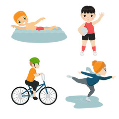 Children sport illustration