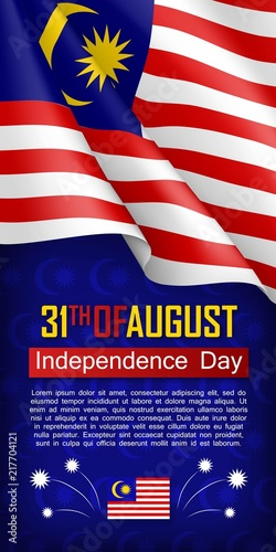 malaysian independence day vertical flyer 31th of august greeting