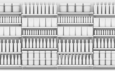 Supermarket Shelf With Generic Products Wall mural