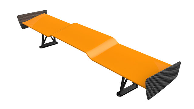 3D rendering of the sports car spoiler