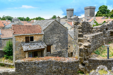 La Couvertoirade a Medieval fortified town in Aveyron, France