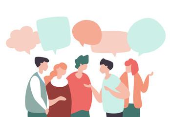 Concept of teamwork, social networks, global communication