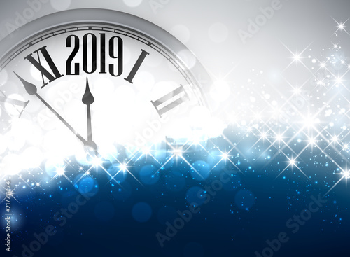 gold shiny 2019 new year background with clock stock image and royalty free vector files on fotoliacom pic 230886736
