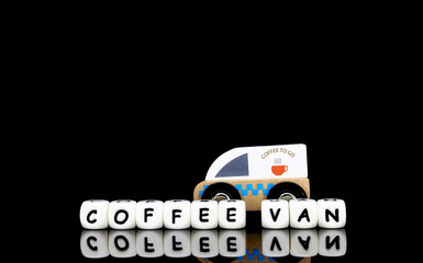 model coffee nvan and alphabet letters