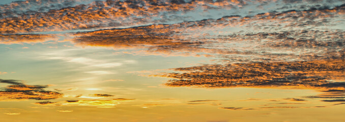 Background with the magic of the sky and clouds at dawn, sunrise