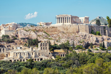 Poster de jardin Athenes Scenic view of the Acropolis of Athens, Greece