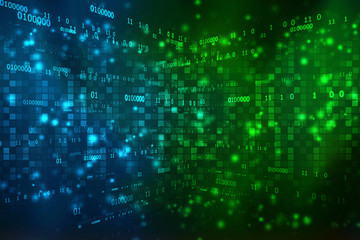 Binary Background, Digital Abstract technology background,  futuristic background, cyberspace Concept