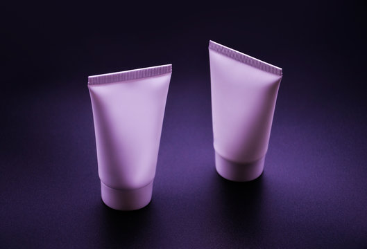 liquid cream lotion cosmetic container packaging mockup template